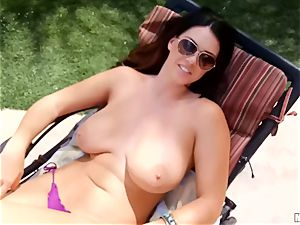 Alison Tyler caught on hidden cam from above