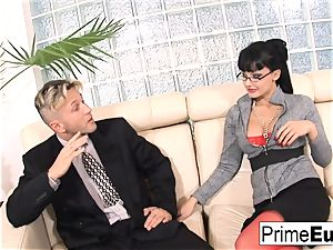 Aletta Ocean gets rectally torn up on the couch