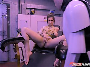 Stella Cox cooch hammered by a space agent