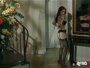 casting ALLA ITALIANA red-haired penetrated by a ebony man sausage