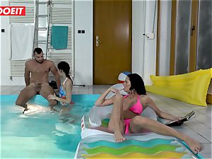 LETSDOEIT - son pulverizes StepMom And sister At The Pool