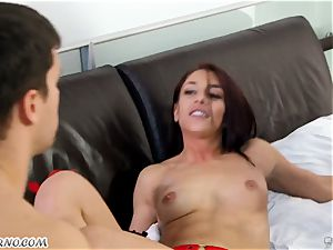 buxom milf Cherie DeVille wants lovemaking with her husband and his finest buddy Mischa Brooks