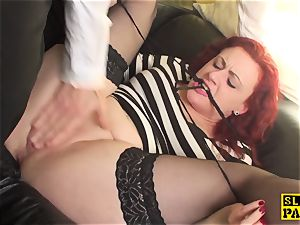 british redhead sub Isabel dominated with hook-up