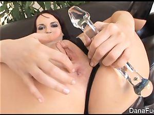 Dana gets her arse stuffed with big black cock