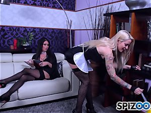 scorching maids Jessica Jaymes and Helly Mae Hellfire