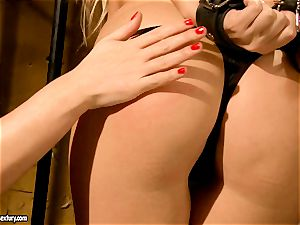 Kathia Nobili wild jail guard tantalizing a red-hot stunner